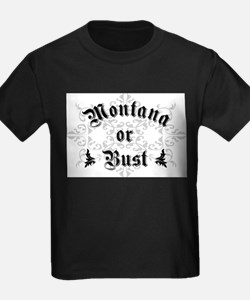 Montana or Bust Ash Grey T-Shirt