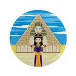 """Egyptian Queen Cleopatra 3.5"""" Button (100 pac"""