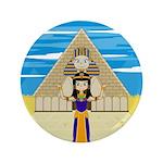 "Egyptian Queen Cleopatra 3.5"" Button"