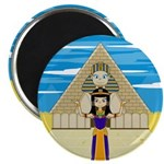 """Egyptian Queen Cleopatra 2.25"""" Magnet (100 pa"""