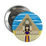 """Egyptian Queen Cleopatra 2.25"""" Button (100 pa"""