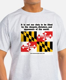 Not Our Duty Maryland Ash Grey T-Shirt