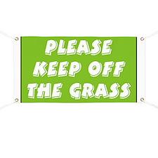 Keep off Grass Banner