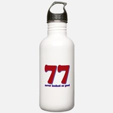 77 years never looked so good Water Bottle