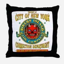 RIKERS ISLAND Throw Pillow