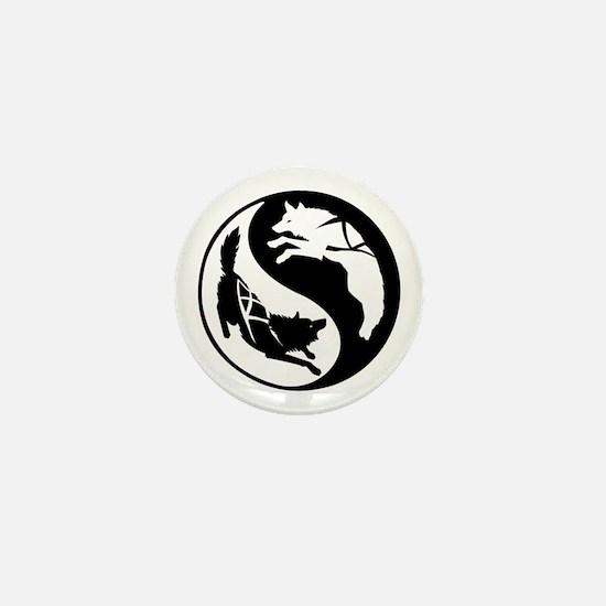Yin-Yang Huskies Mini Button