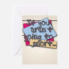 Snort Greeting Card