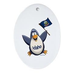 Idaho Penguin Ornament (Oval)