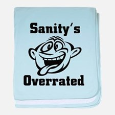 Sanity's Overrated baby blanket