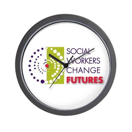 Social Workers Change Futures Wall Clock