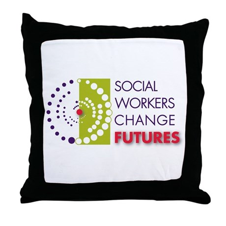 Social Workers Change Futures Throw Pillow