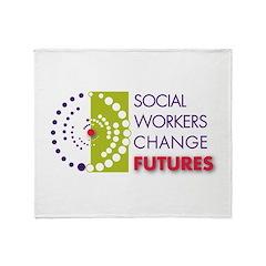 Social Workers Change Futures Throw Blanket