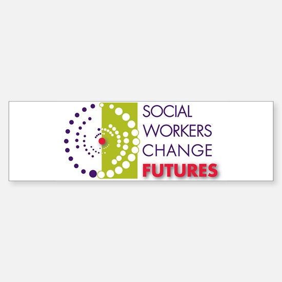 Social Workers Change Futures Sticker (Bumper)