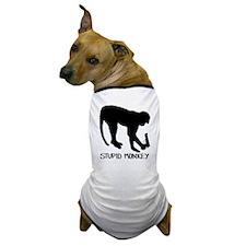 Stupid Monkey. Dog T-Shirt