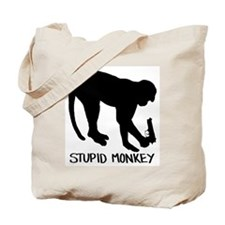 Stupid Monkey. Tote Bag