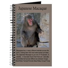 Japanese Macaque Blank Journal