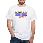 Korea Service Ribbon White T-Shirt