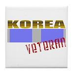 Korea Service Ribbon Tile Coaster