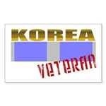 Korea Service Ribbon Rectangle Sticker