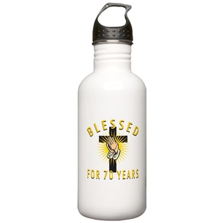 Blessed For 70 Years Stainless Water Bottle 1.0L
