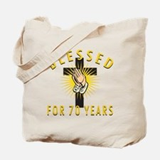 Blessed For 70 Years Tote Bag
