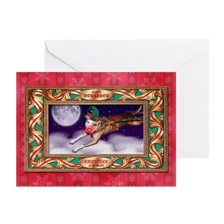 Santa's Employee of the Month Greeting Cards (20)
