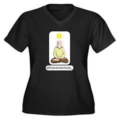 Ohmmm... Women's Plus Size V-Neck Dark T-Shirt