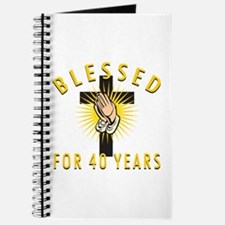 Blessed For 40 Years Journal
