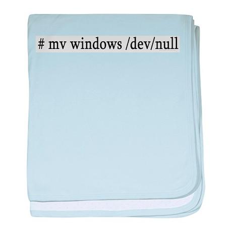 # mv windows /dev/null baby blanket