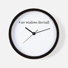 # mv windows /dev/null Wall Clock