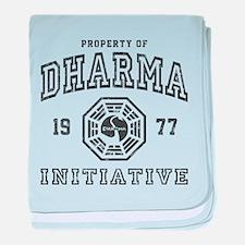 Property of Dharma 77 baby blanket