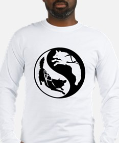 Yin-Yang Huskies Long Sleeve T-Shirt