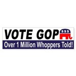 GOP: 1 Million Whoppers Told bumper sticker