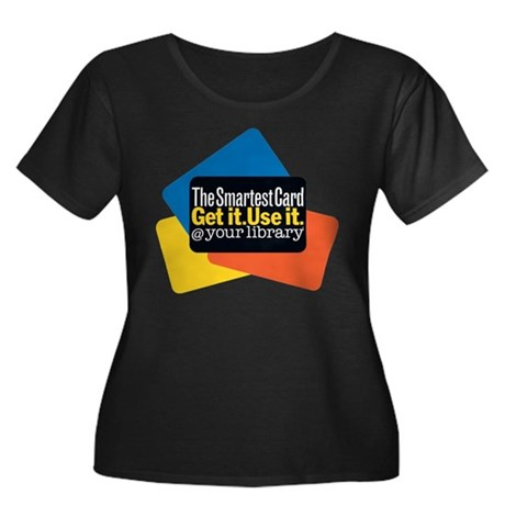 Women's Plus Sz Scoop Dark Smartest Card T-Shirt