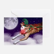 Santa's Emp/Month Greeting Card (Blank Inside)