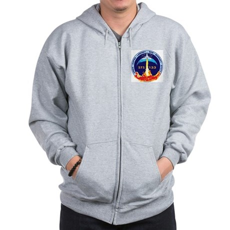 STS 133 Discovery Zip Hoodie
