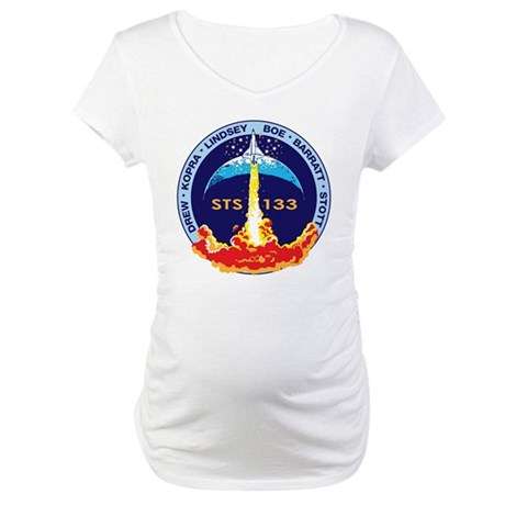 STS 133 Discovery Maternity T-Shirt