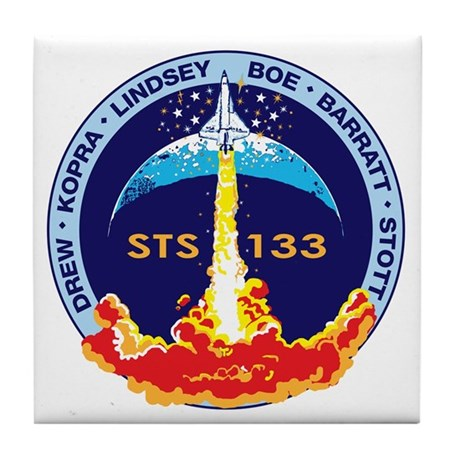 STS 133 Discovery Tile Coaster