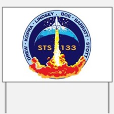 STS 133 Discovery Yard Sign