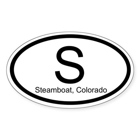 S - Steamboat, Colorado Sticker (Oval)