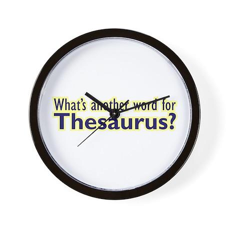 Thesaurus Wall Clock
