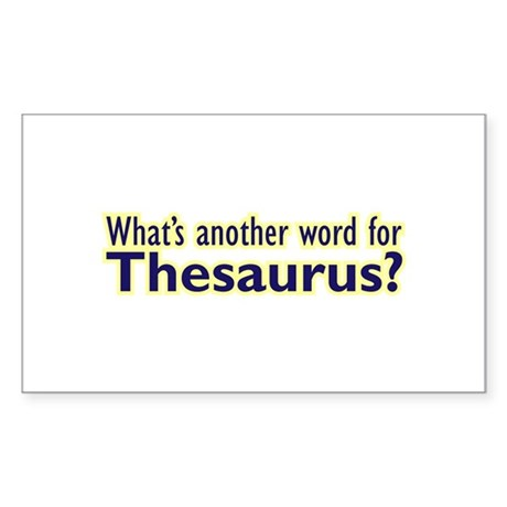Thesaurus Sticker (Rectangle)