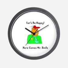 Here Comes Mr Smile Gifts Wall Clock