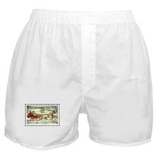 Christmas Stamp Boxer Shorts