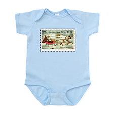 Christmas Stamp Infant Creeper