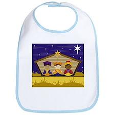 Three Nativity Kings Babies Bib