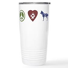 Peace, Love & Sled Dogs Travel Mug
