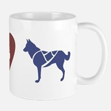 Peace, Love & Sled Dogs Mug