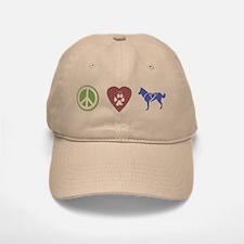 Peace, Love & Sled Dogs Baseball Baseball Cap
