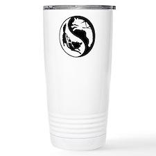 Yin-Yang Huskies Travel Mug